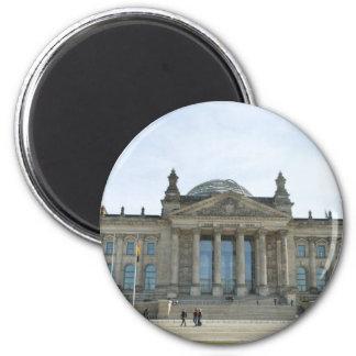 Edificio de Reichstag en Berlín Imán Redondo 5 Cm