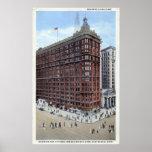 Edificio de Schofield, vintage de los años 20 de C Poster