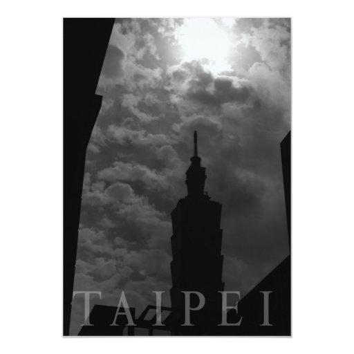 Edificio de Taipei 101, Taipei, Taiwán Invitación 12,7 X 17,8 Cm