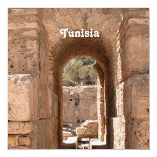 Edificio de Túnez Invitación 13,3 Cm X 13,3cm