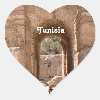 Edificio de Túnez Pegatina Corazón