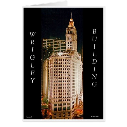 Edificio de Wrigley, Chicago II Felicitacion