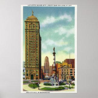 Edificio del banco de la libertad, ayuntamiento impresiones