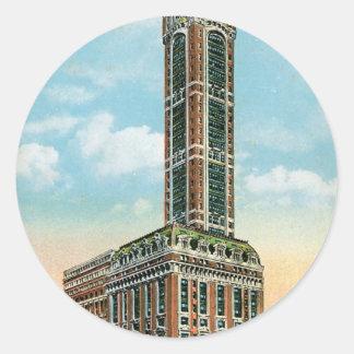 Edificio del cantante, New York City Pegatina Redonda