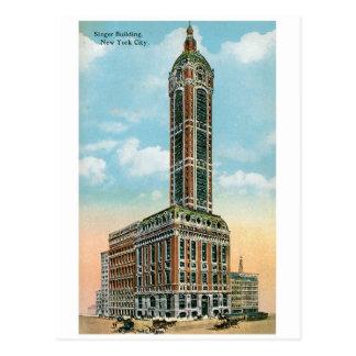 Edificio del cantante, New York City Tarjetas Postales