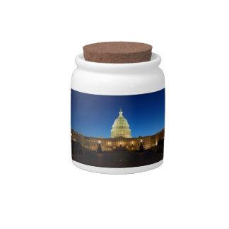 Edificio del capitolio de Estados Unidos en la osc Platos Para Caramelos