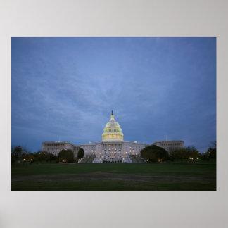 edificio del capitolio de Estados Unidos en la osc Impresiones