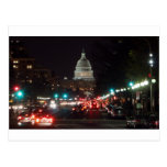 Edificio del capitolio de los E.E.U.U. en la noche Tarjetas Postales
