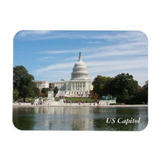 Edificio del capitolio de los E.E.U.U. Imán Rectangular
