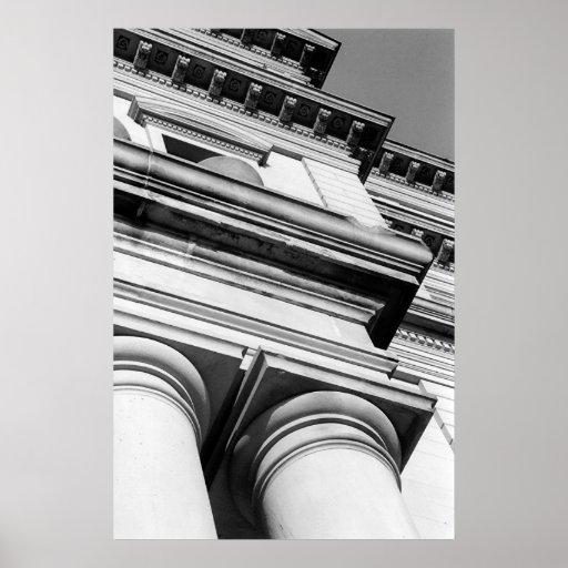 Edificio del capitolio de Michigan Poster