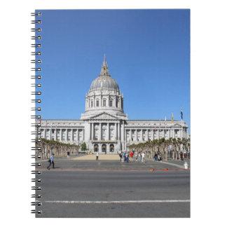 Edificio del capitolio de San Francisco Libreta Espiral