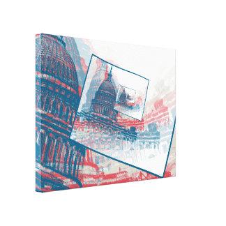 Edificio del capitolio del congreso impresión en lienzo estirada