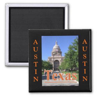 Edificio del capitolio del estado, Austin, Tejas Imán Cuadrado