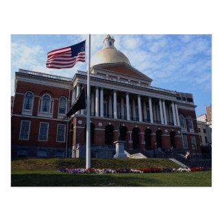 Edificio del capitolio del estado, Boston, Tarjeta Postal