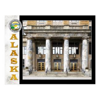 Edificio del capitolio del estado de Alaska en Jun Postales