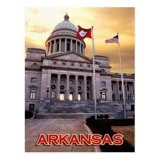 Edificio del capitolio del estado de Arkansas, Tarjeta Postal