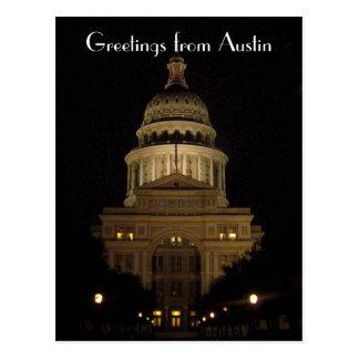 edificio del capitolio del estado de Austin Tejas Postales