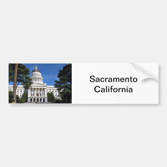 Edificio del capitolio del estado de CA - Pegatina Para Auto