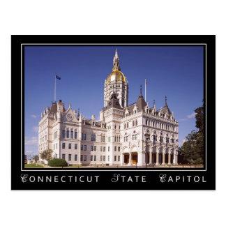 Edificio del capitolio del estado de Connecticut e Tarjeta Postal