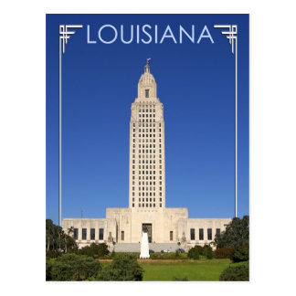 Edificio del capitolio del estado de Luisiana, Tarjeta Postal