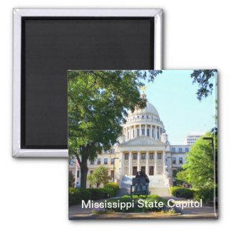 Edificio del capitolio del estado de Mississippi Imán Cuadrado