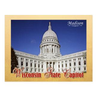Edificio del capitolio del estado de Wisconsin en Postal