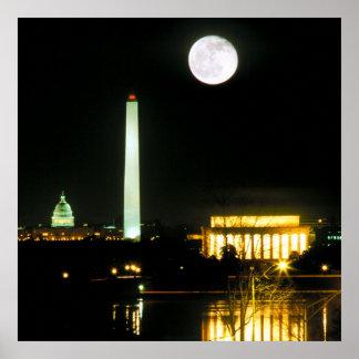Edificio del capitolio el Lincoln memorial Washi Impresiones