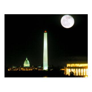 Edificio del capitolio el Lincoln memorial Washi Tarjetas Postales