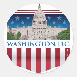 Edificio del capitolio - Washington DC Pegatina Redonda