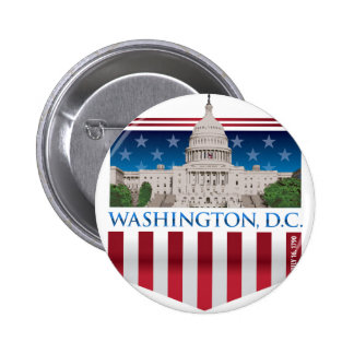 Edificio del capitolio - Washington DC Pin Redondo De 2 Pulgadas