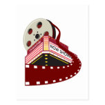 edificio del cine del teatro con el desarrollo del postal