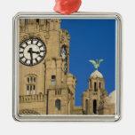 Edificio del hígado, Liverpool, Merseyside, Ornaments Para Arbol De Navidad