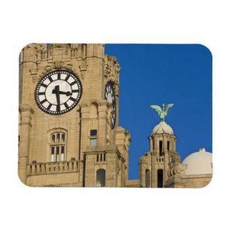 Edificio del hígado Liverpool Merseyside Inglat Imanes