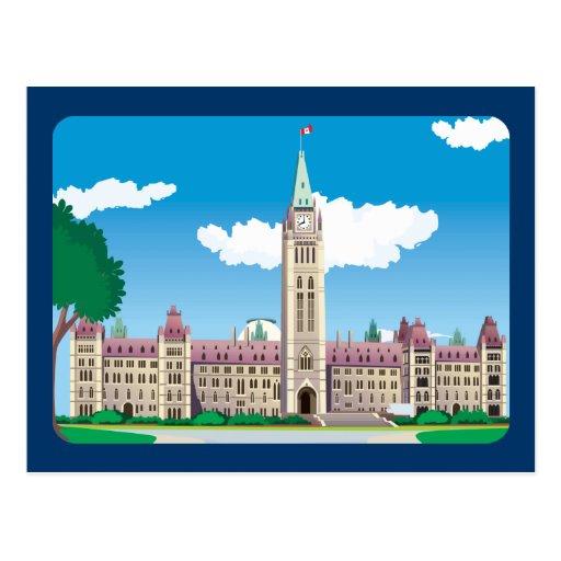Edificio del parlamento de Ottawa Tarjetas Postales