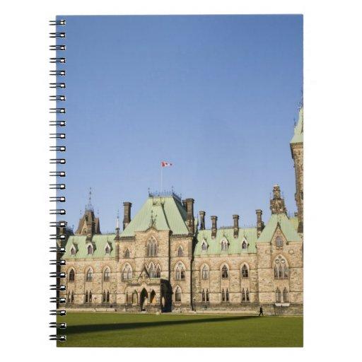 Edificio del parlamento en Ottawa, Ontario, Canadá Libreta Espiral