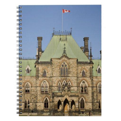 Edificio del parlamento en Ottawa, Ontario, Canadá Libreta