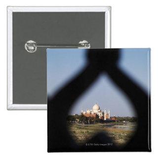 Edificio del Taj Mahal de un balcón con la forma Pin