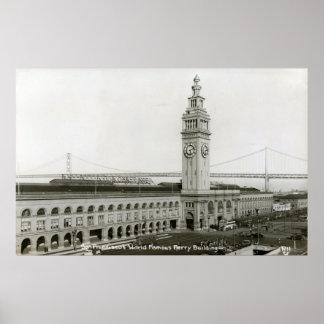 Edificio del transbordador, vintage de San Francis Posters