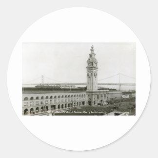 Edificio del transbordador, vintage de San Pegatina Redonda