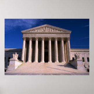 Edificio del Tribunal Supremo de Estados Unidos Posters