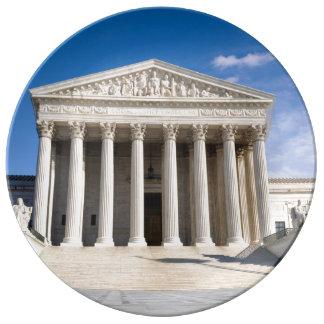 Edificio del Tribunal Supremo de los Estados Platos De Cerámica
