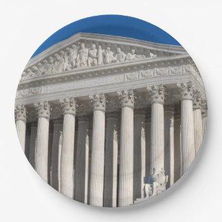 Edificio del Tribunal Supremo de los Estados Platos De Papel
