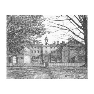Edificio del Wren, Williamsburg, Virginia Lienzo Envuelto Para Galerias