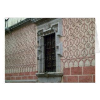Edificio emparedado teja en Taxco Tarjeta De Felicitación