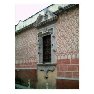 Edificio emparedado teja en Taxco Tarjetas Postales