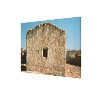Edificio en Jericó viejo Lienzo Envuelto Para Galerías
