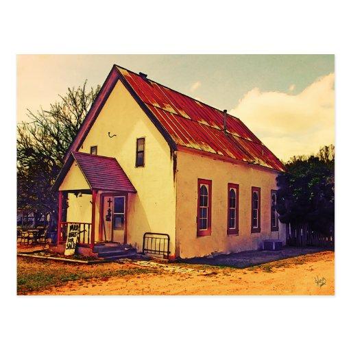 Edificio en la ciudad del sauce, TX Postales