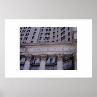 Edificio en New York City Poster