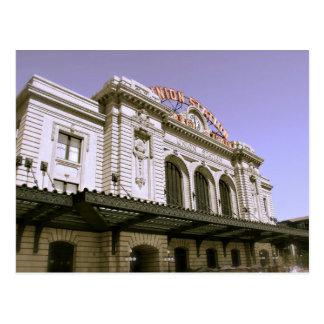 Edificio famoso de la estación de tren tarjetas postales