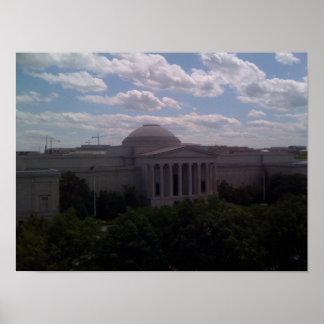 Edificio famoso en la C.C. de Washington Póster